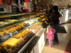 I was a little miffed but then we examined the display cases. The muffins were gorgeous!