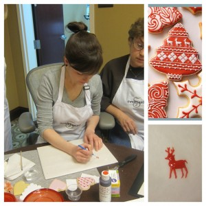 Amber was asked about her Christmas reindeer so she showed us how she did them.