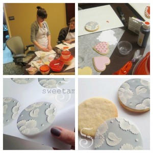 She was also asked about the icing transfer sheets.